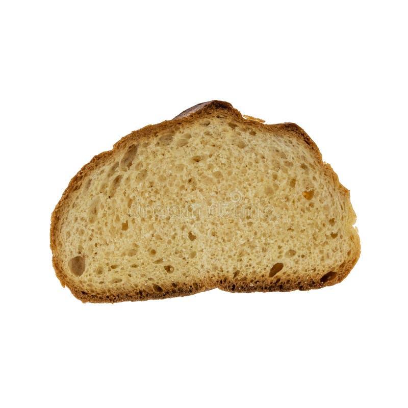 Skivad   smörgåsbröd isolerat på vit bakgrund royaltyfri bild