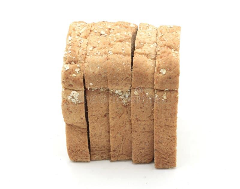 Skivad bästa sikt för rostat brödbröd arkivbilder