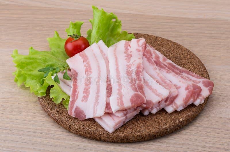 skivad bacon fotografering för bildbyråer