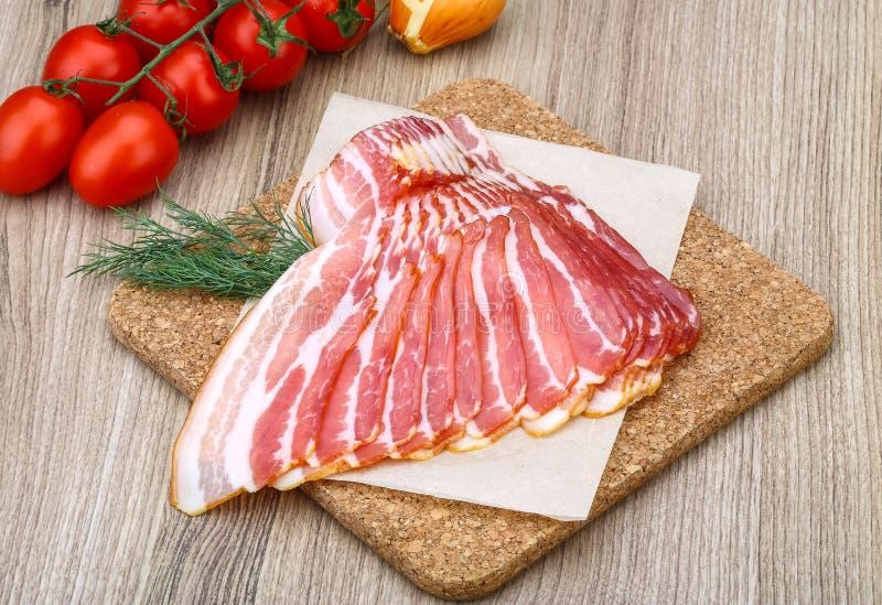skivad bacon royaltyfria foton
