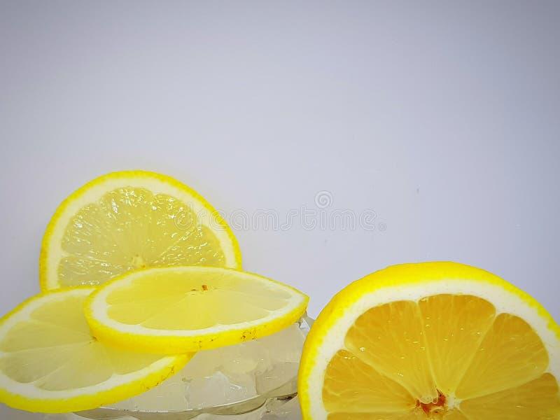 Skivad citrusfruktcitron royaltyfri bild