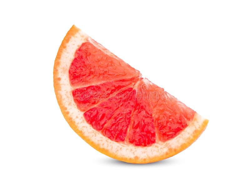 Skivad grapefrukt på vit royaltyfri bild