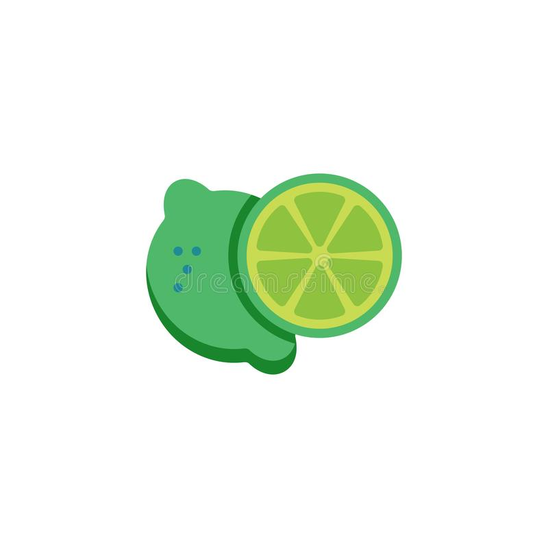 Skivad limefruktl?genhetsymbol stock illustrationer