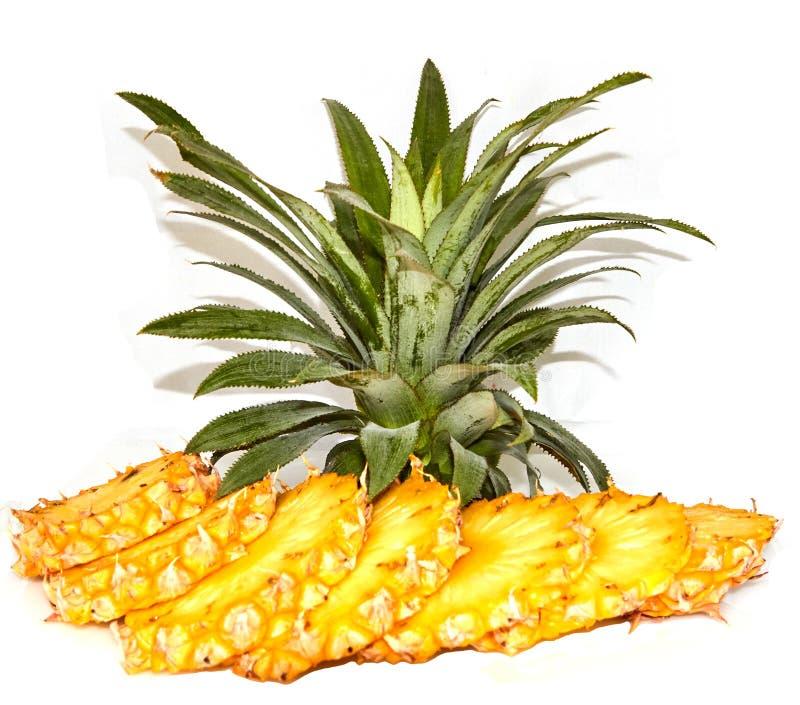 Skivad ny ananas royaltyfri foto