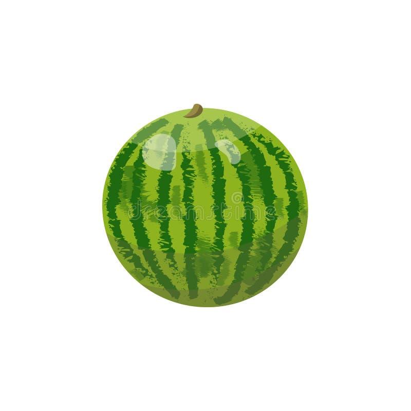 Skivad ny vattenmelon som isoleras på vit bakgrund stock illustrationer