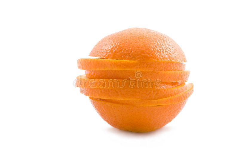 skivad orange royaltyfria bilder