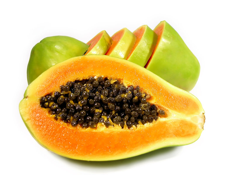 skivad papaya arkivbilder
