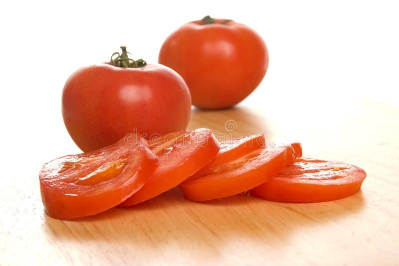 skivad tomat arkivfoto