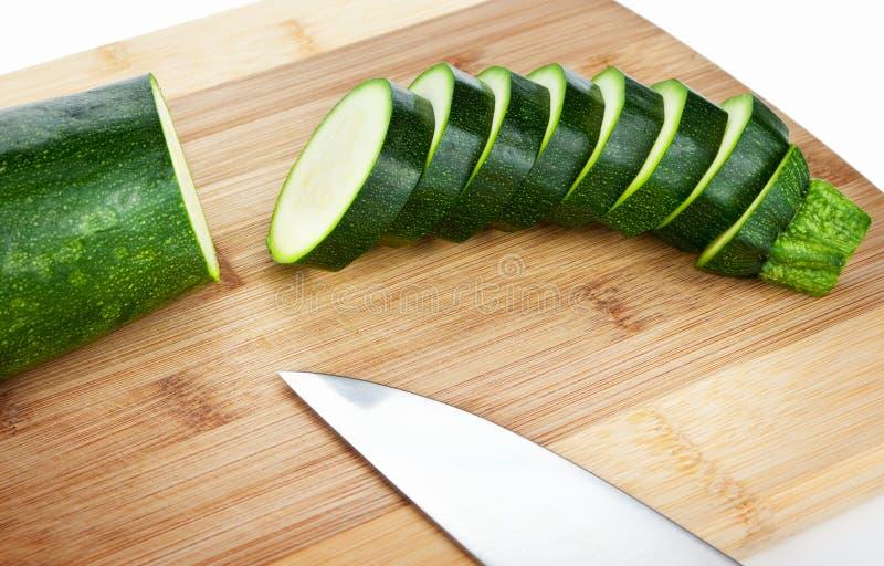 skivad zucchini royaltyfri fotografi