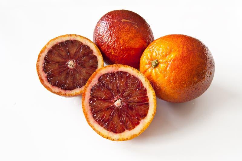 Skivade apelsiner arkivfoto
