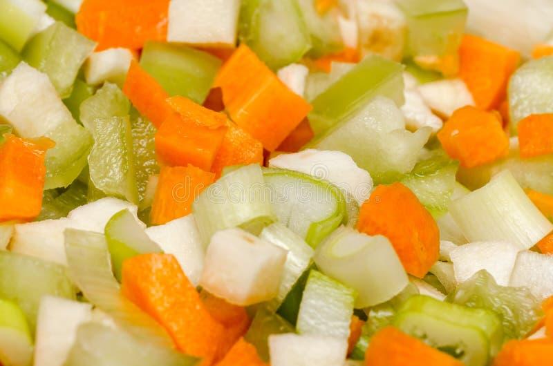 Skivade grönsaker royaltyfria foton