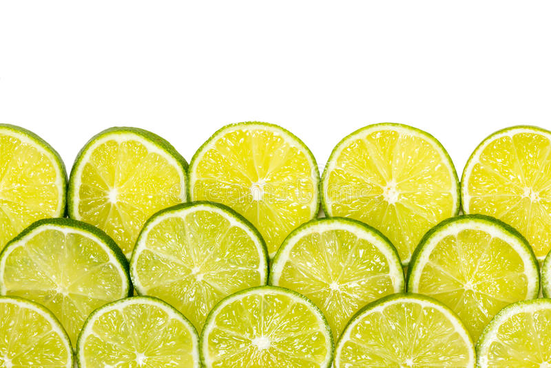 skivade limefrukter royaltyfri foto