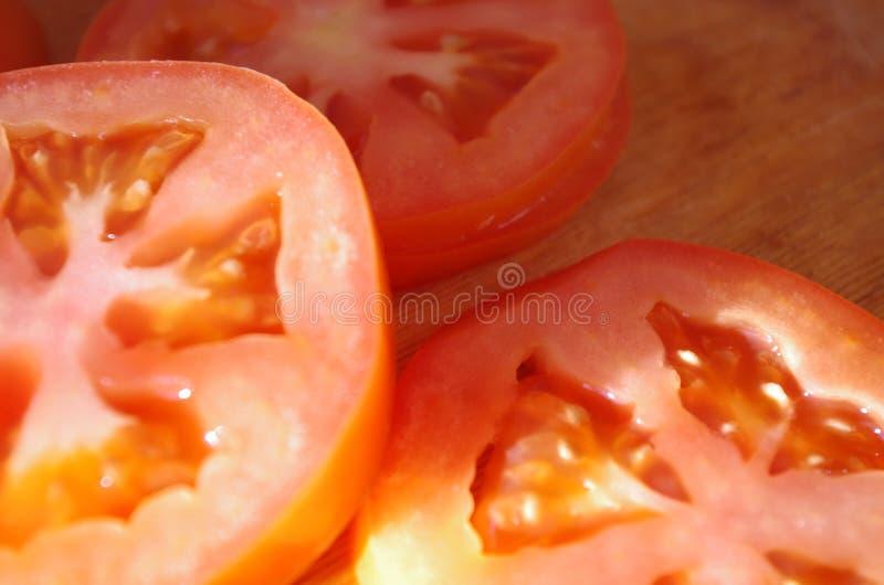 skivade tomater arkivbilder