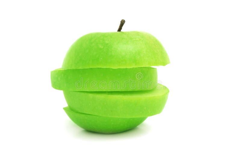 skivat äpple royaltyfri foto