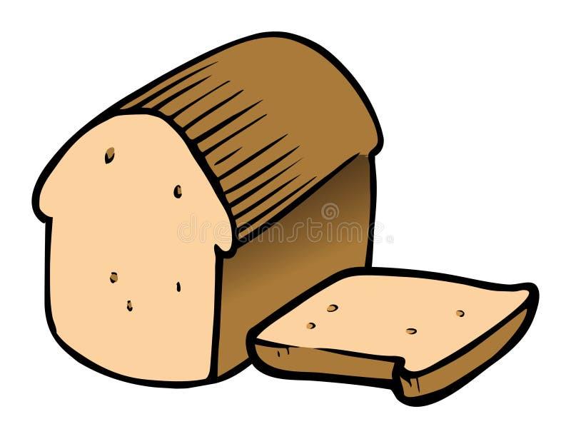 skivat bröd royaltyfri illustrationer