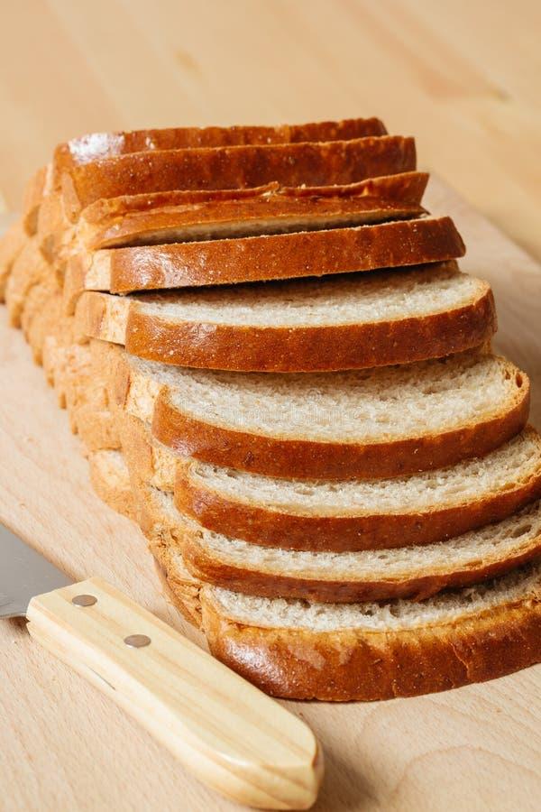 skivat bröd royaltyfria foton