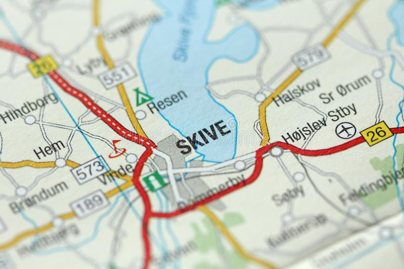 Skive Kongeriget Danmark stock photo Image of geography 113997308