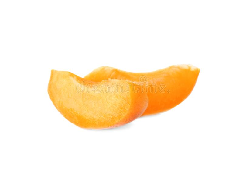 Skivor av den nya aprikons arkivbilder