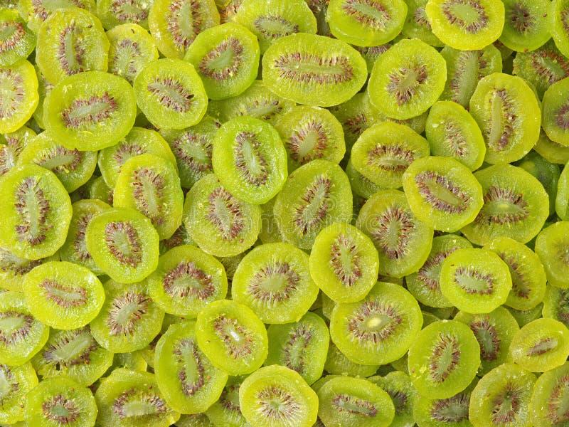 Skivor av torkade Kiwi Fruit, royaltyfria foton
