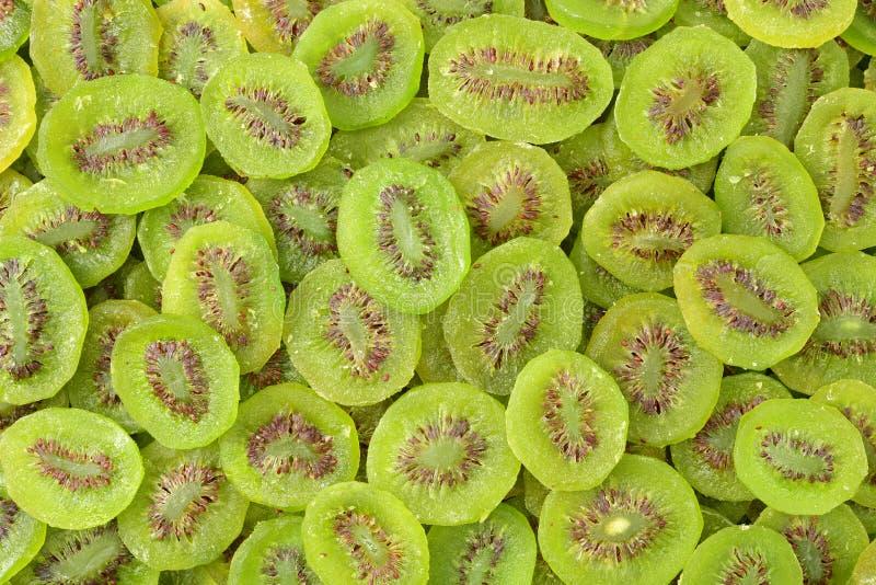Skivor av torkade Kiwi Fruit fotografering för bildbyråer