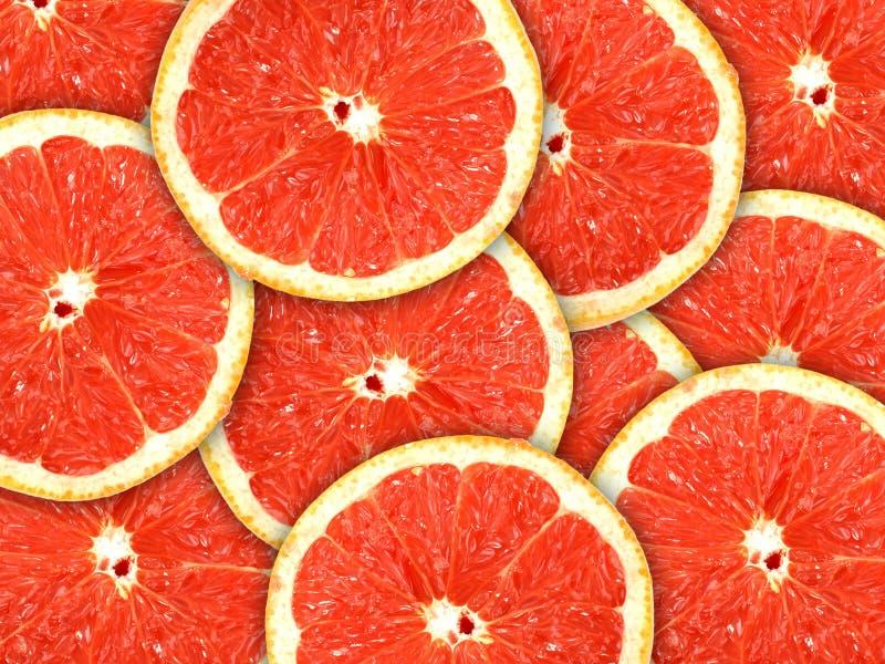 skivor för bakgrundscitrusfruktgrapefrukt arkivbilder