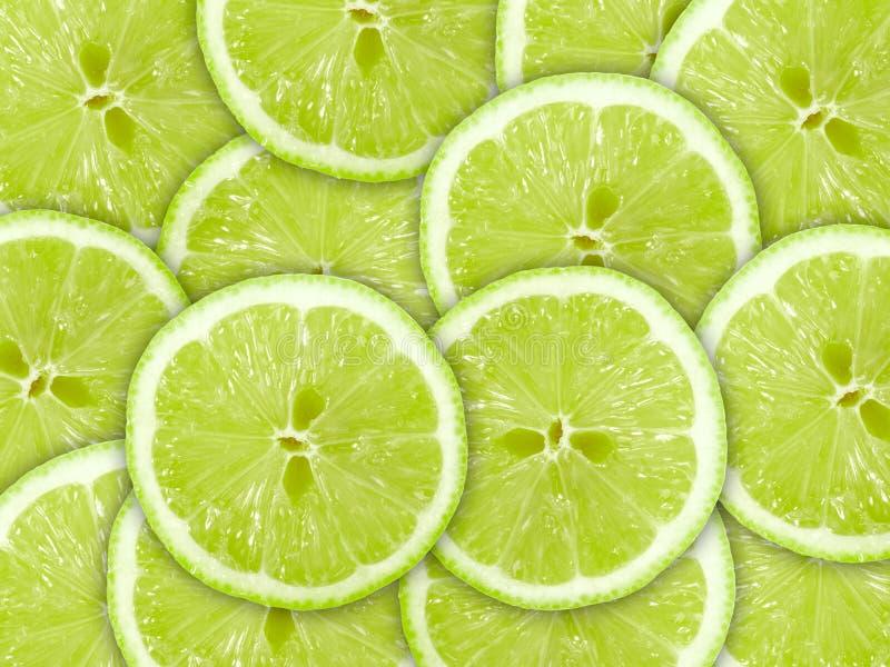 skivor för bakgrundscitrusfruktlimefrukt arkivfoton