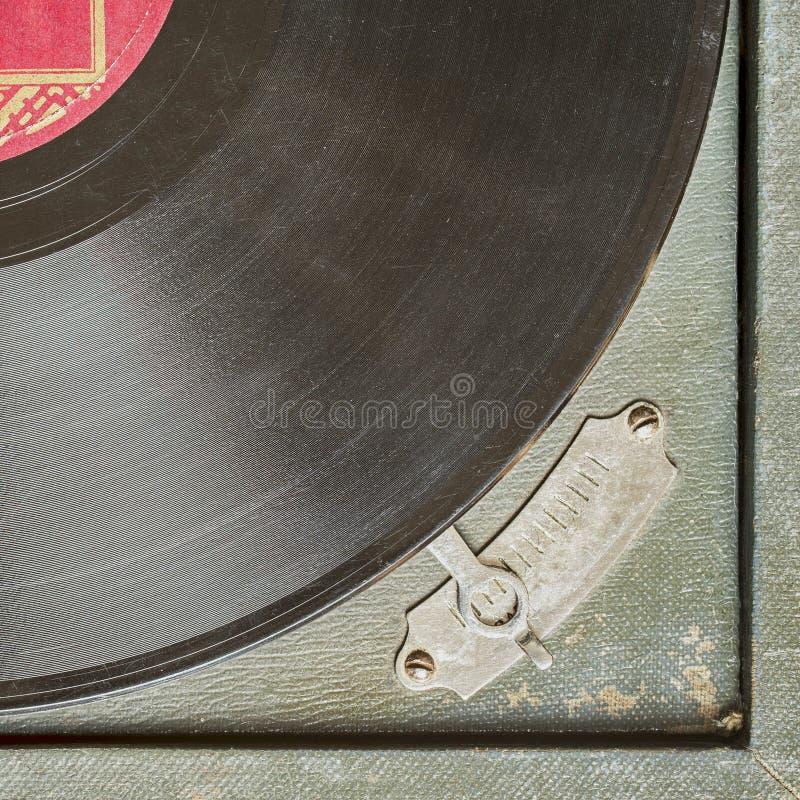 Skivspelare för tappningskivtallrikvinyl arkivbild