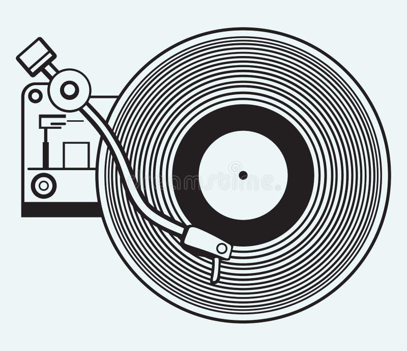 Skivspelarevinylrekord vektor illustrationer