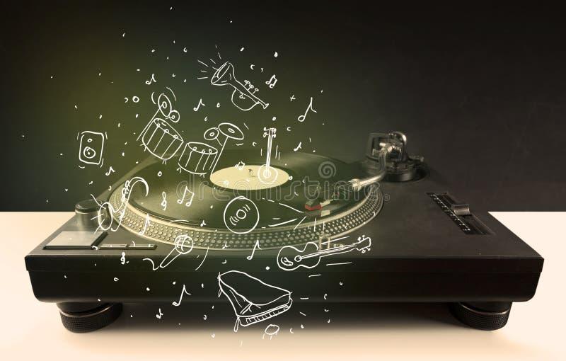 Download Skivtallrik Som Spelar Klassisk Musik Med Symbol Drog Instrument Arkivfoto - Bild av musik, ljudsignal: 78732230