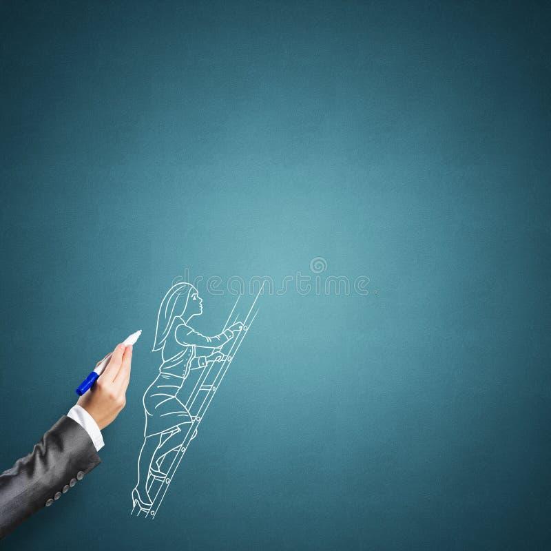 Skizze der Geschäftsfrau lizenzfreie stockfotografie