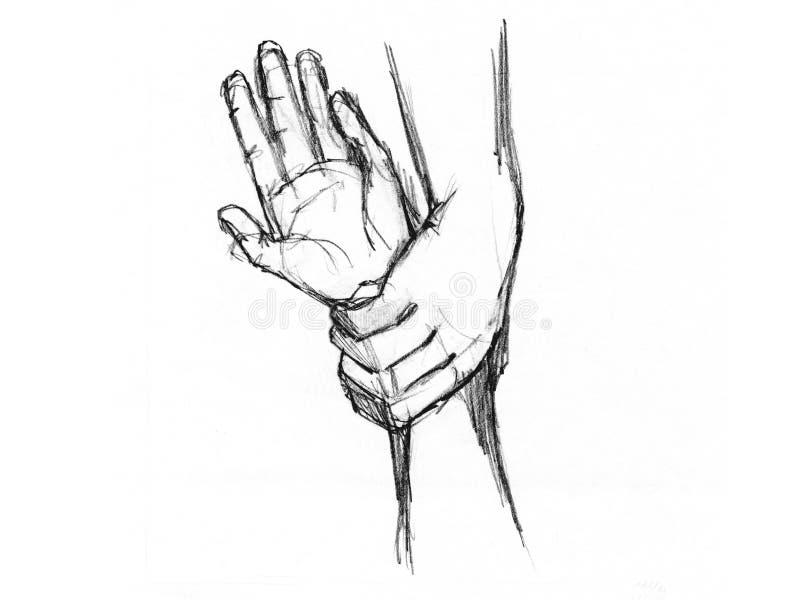 Skizze der Hände stockfotos