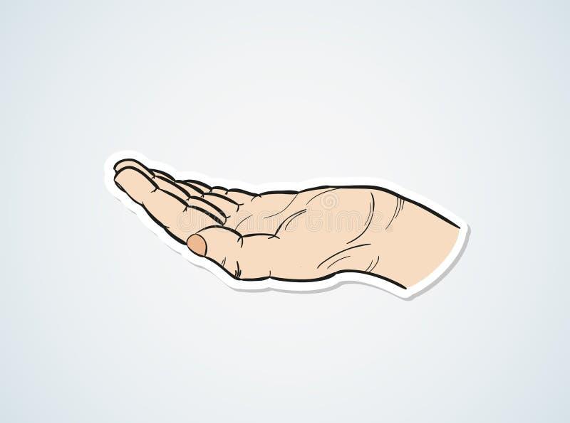 Skizze der Hand stock abbildung