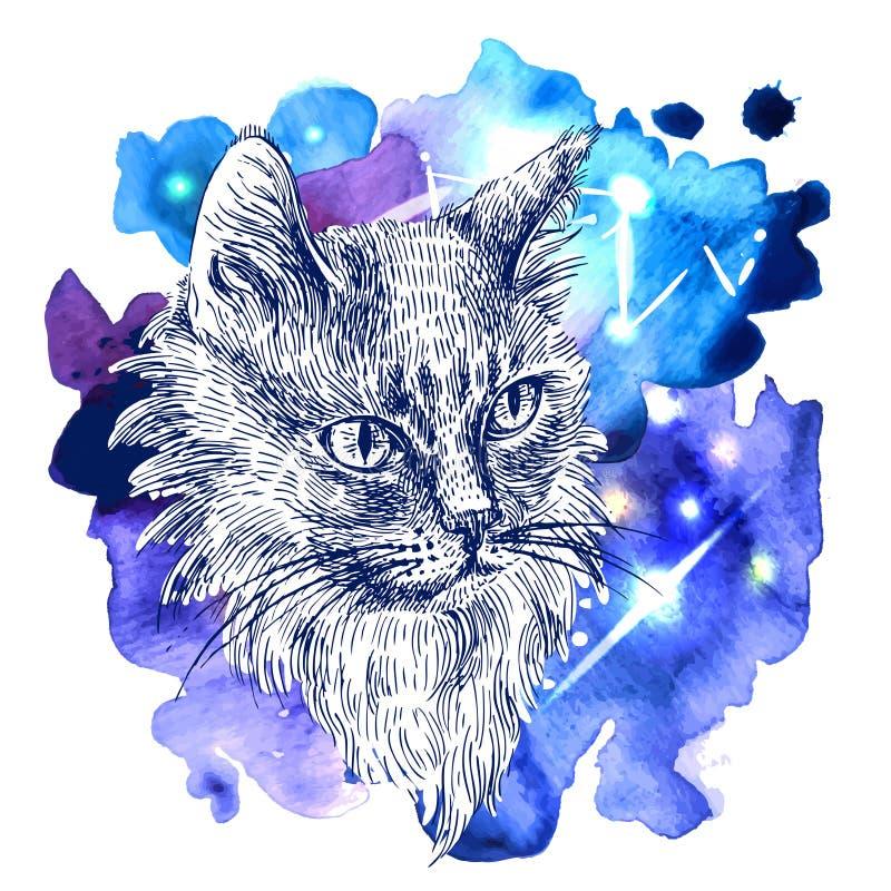 Skizze der Katze lizenzfreie abbildung