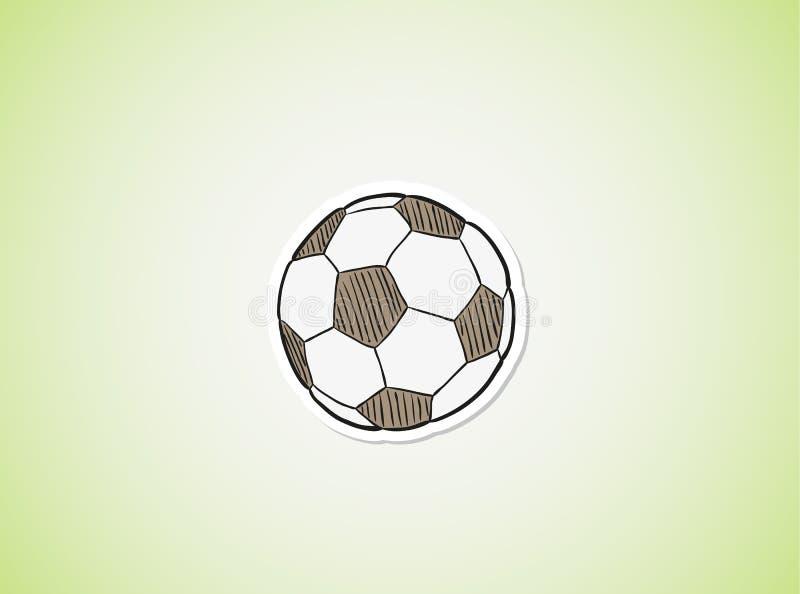 Skizze des Fußballballs vektor abbildung
