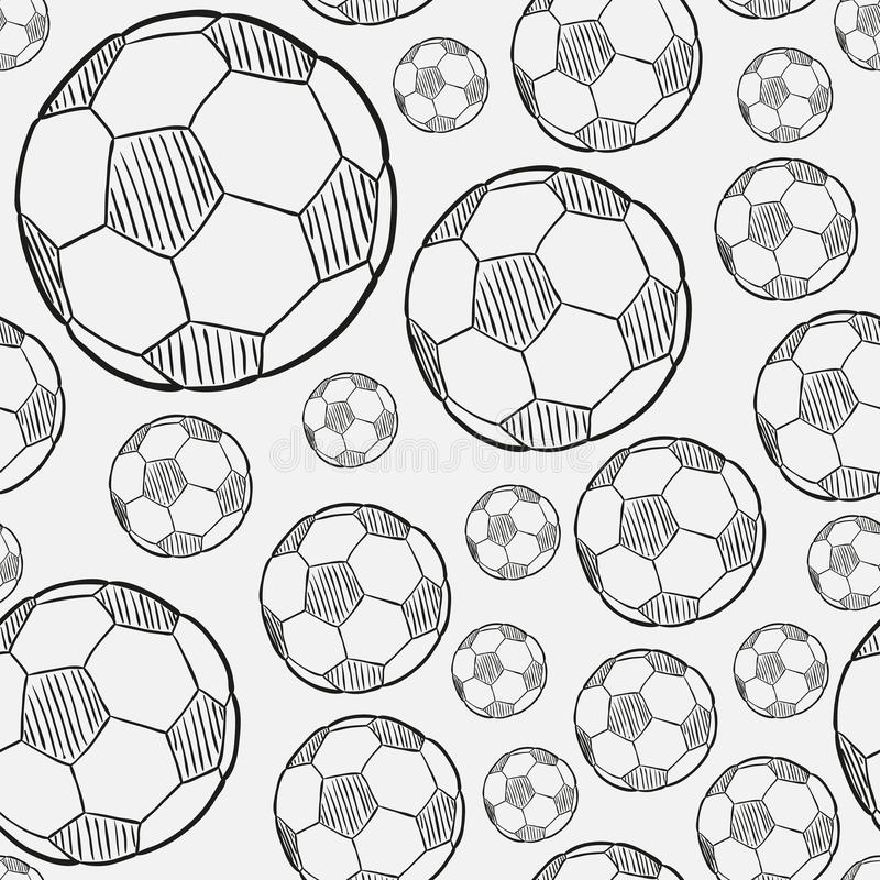 Skizze des Fußballballs lizenzfreie abbildung