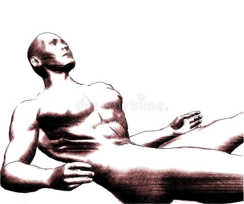 Skizze Eines Man-6 Stockfoto