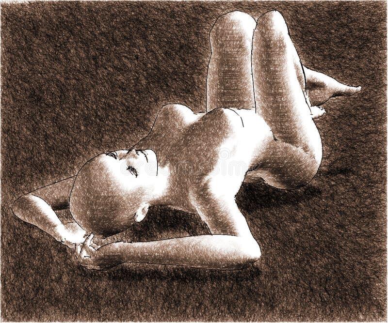 Skizze Eines Woman-3 Lizenzfreie Stockfotos
