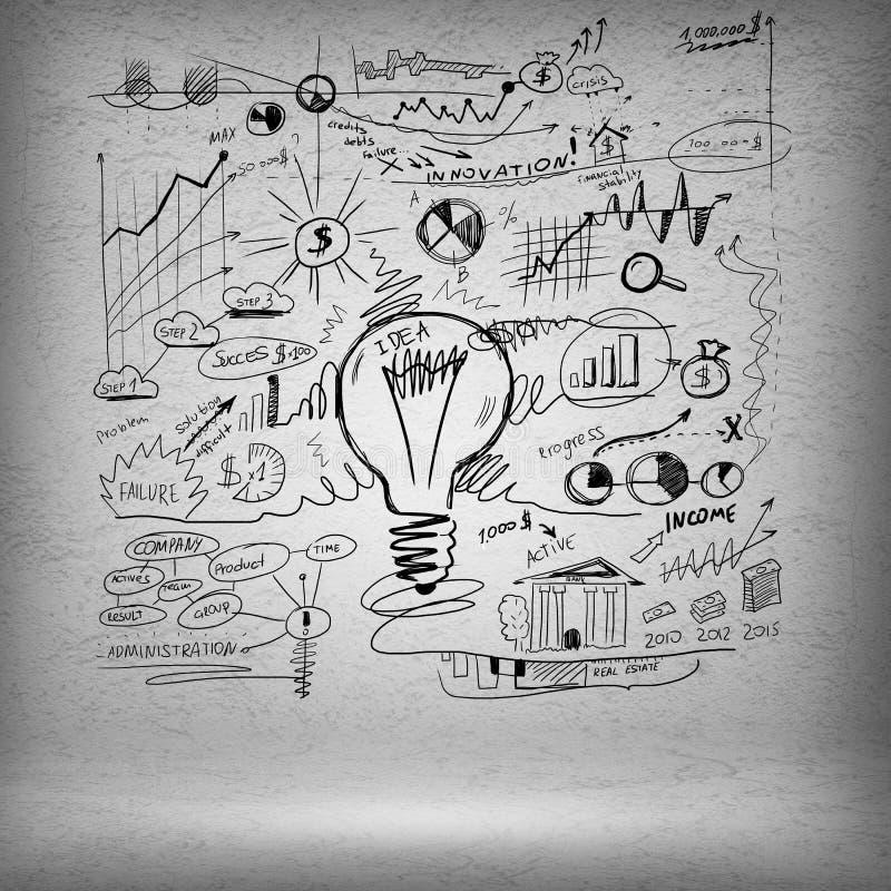 Skizze einiger Ideen lizenzfreie stockfotos