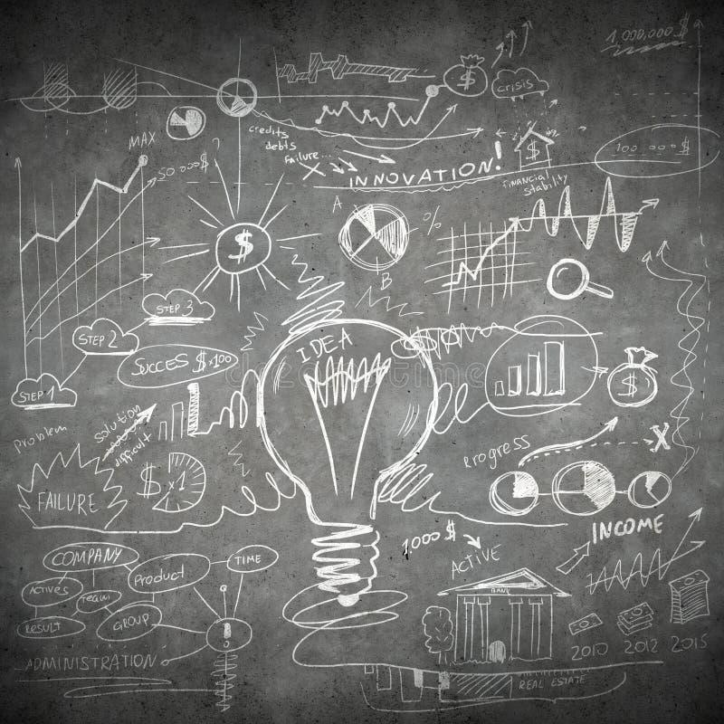 Skizze einiger Ideen lizenzfreies stockbild