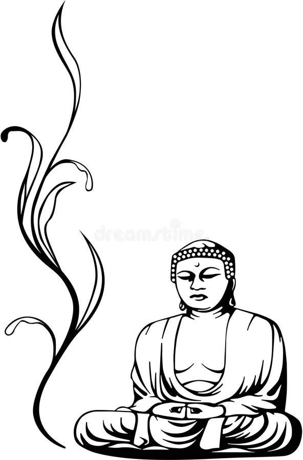 Skizze von Buddah lizenzfreie abbildung