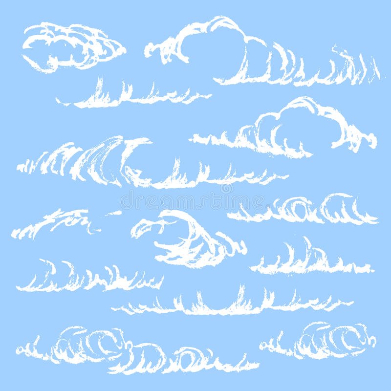 Skizze von Wolken vektor abbildung