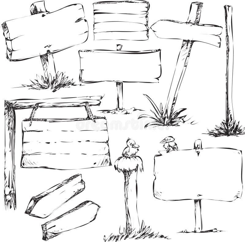 Skizzen der Zeichenvorstände stock abbildung