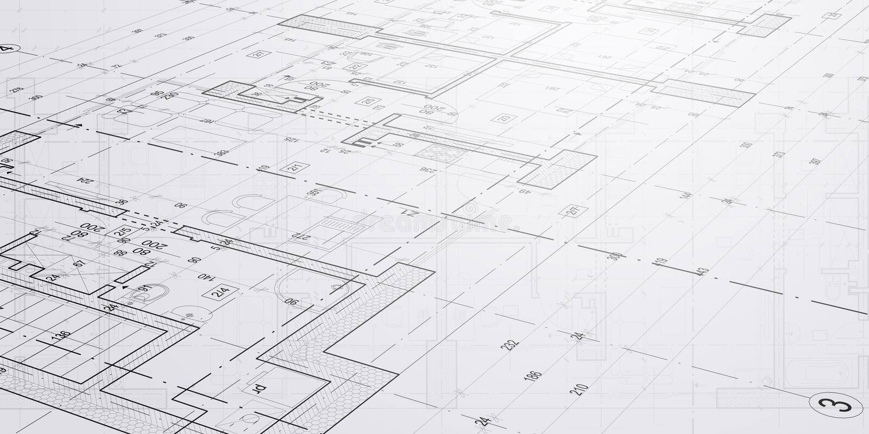 Skizzen und Zeichnungen der Architektur stockfotografie