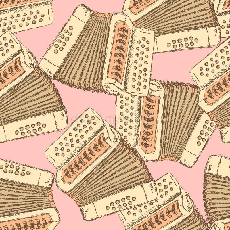 Skizzenakkordeon-Musikinstrument stock abbildung
