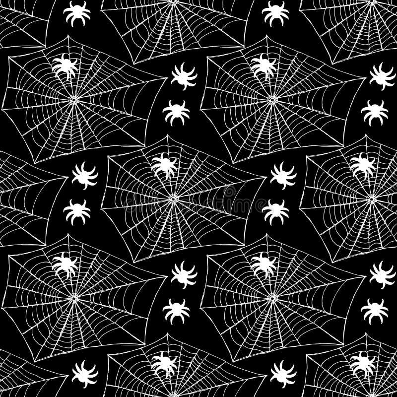 Skizzennetz mit Spinne lizenzfreie abbildung