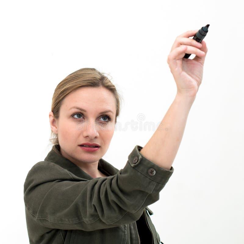 Download Skizzieren der jungen Frau stockfoto. Bild von ausbildung - 26370564