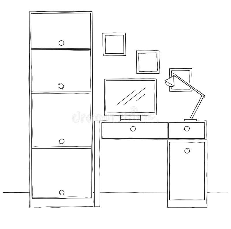 Bürostuhl skizze  Stuhl Skizze Lokalisiert Auf Weißem Hintergrund Auch Im Corel ...