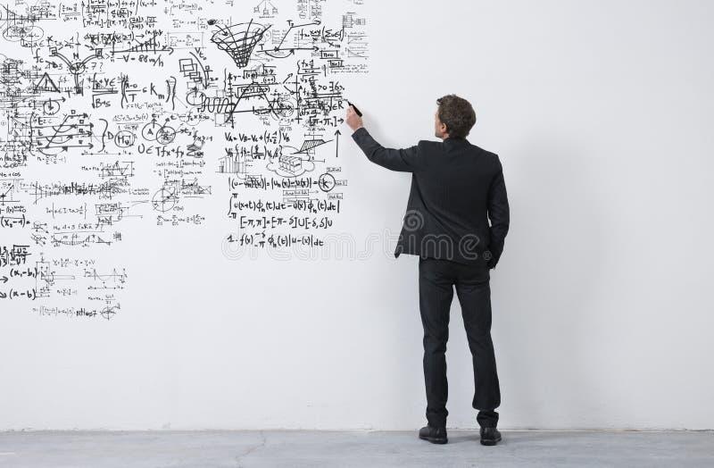Skizzierende Ideen des kreativen Unternehmers lizenzfreie stockfotografie