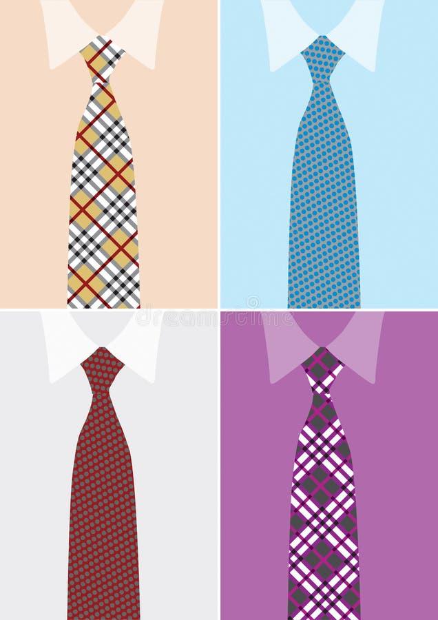 Skjorta och slips i version fyra vektor illustrationer