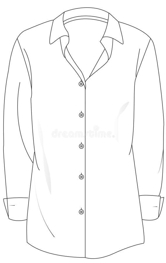 Skjorta-orsaklig kvinna arkivbilder